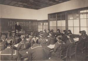105.1931(昭和6年)高校卒業アルバム 授業風景 黒木五郎